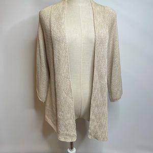 Eileen Fisher Xs nude tan cardigan sweater wrap